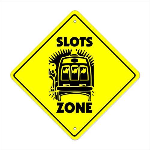 Slots Crossing Sign Zone Xing | Indoor/Outdoor | 14