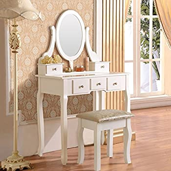 Amazon Com Mefeir Princess Dressing Table Stool With