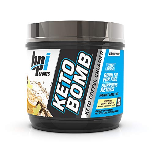 BPI Health Keto Bomb - Ketogenic Coffee Creamer - Amazing Taste - Supports Weight Loss - Essential Fats - Boosts Energy - Increases Performance - 0 Sugar - French Vanilla Latte - 18 Servings - 16.5 oz