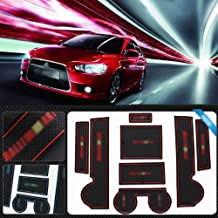 Rubber Door Non-slip Holder Interior Mat Slot Cup Pad 7PCS Fit For Mitsubishi Lancer EX