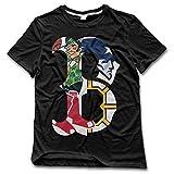 Men's T Shirt Classic Boston Spoter Logo Mixed Black SizeXXL