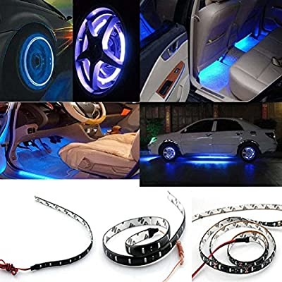 YITA- 4x12V Car Motorcycle 30CM 15SMD LED White Waterproof Flexible Light Strip