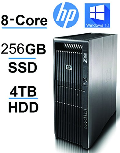 HP Z600 2 X Quad Xeon upto 3.33GHz, 256GB SSD, 4TB HDD, 24GB RAM,USB 3(Certified Refurbished) from HP