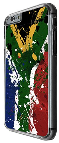 1224 - Watercolor south african Flag Gariftti Art Sa Flag Design For iphone 6 Plus / iphone 6 Plus S 5.5'' Fashion Trend CASE Back COVER Plastic&Thin Metal -Clear