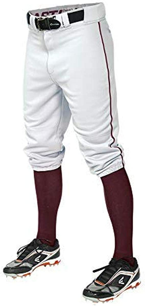 EASTON PRO+ KNICKER Baseball Pant   2020   Adult   Small   White Maroon   Scotchgard Stain Release + Moisture Wicking