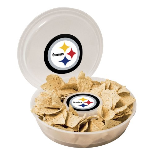 NFL Pittsburgh Steelers Plastic Chip and Dip (Plastic Football Trays)