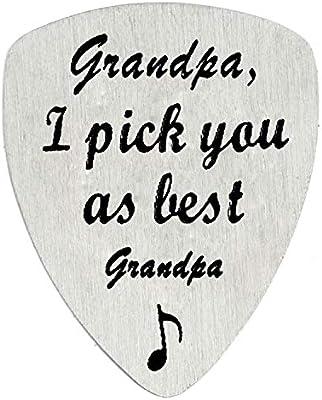 BESPMOSP - Púa de guitarra Grandpa I pick you as best grandpa ...