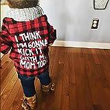 Toddler Long Sleeve Shirt Baby Boy Girl Plaid Top