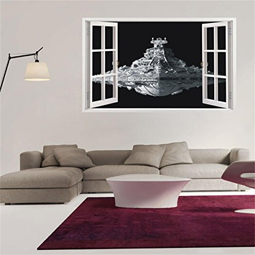 Funi Extra Large Star Wars Stickers 3D Star Destroyer Spaceship Window Stickers Removable Wallpaper Home Decor 60*100cm