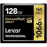 Lexar Professional 1066 x 128GB VPG-65 CompactFlash card (Up to 160MB/s Read) LCF128CRBNA1066