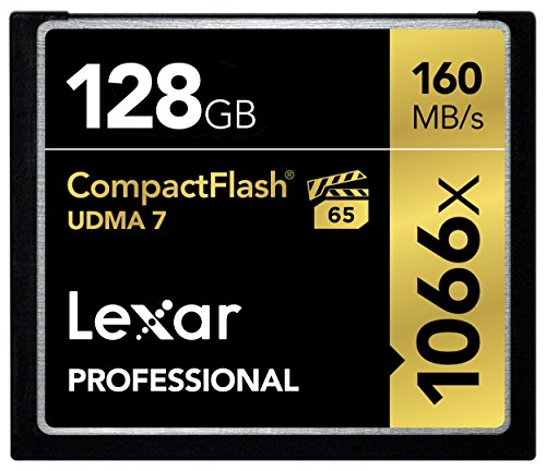 Lexar Professional 1066x 128GB VPG-65 CompactFlash card (Up to 160MB/s Read)...