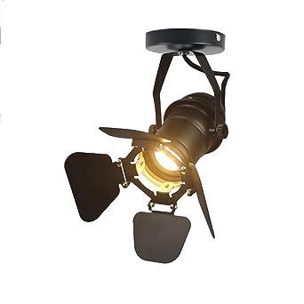 JINYU Loft Vintage Rústico Industrial Lámpara de techo/Pared Bañadores de Pared Luz de Pared Iluminación para Dormitorio,Studio,Hogar ...