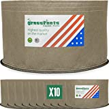 Cheap HIGHEST QUALITY REUSABLE (10 PACK) (10 Gallon Tan) Classic Grassroots Fabric Pots100% Made in USA – NOT CHEAP FOREIGN Grow Bags professional grade TAN planters are better for your plants