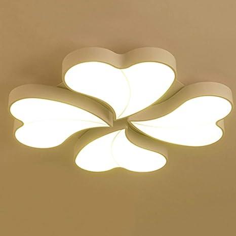Lámpara de techo Led Lámpara en forma de corazón Dormitorio ...