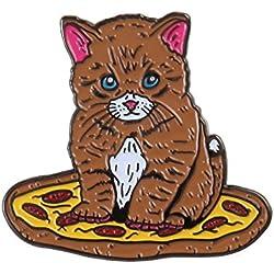 Pizza Kitten Enamel Pin