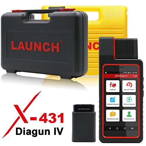 LAUNCH X431 DIAGUN IV Bi-Directional Automotive OBD2 Diagnostic Tool with Key Fob Programming, ECU Coding, ABS Bleeding Brake, Reset Functions Including Oil Reset, EPB, SAS, DPF, BMS, ABS, SRS, TPMS
