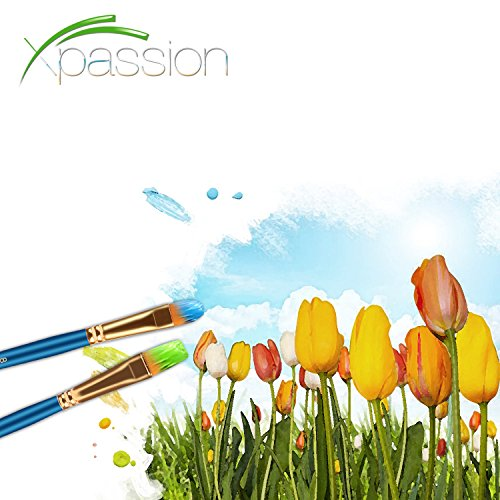 Paint Brush Set Acrylic Xpassion 10pcs Professional Paint Brushes Artist for Watercolor Oil Acrylic Painting by Xpassion (Image #6)