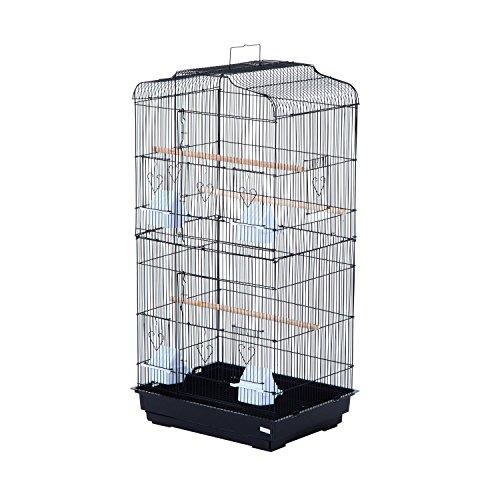 Pawhut 36 Bird Cage - Black