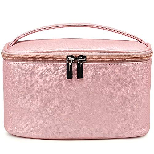 Cosmetic Bag,365park Travel Accessories Cosmetics MakeUp Case Organizer Bag with Brush Holder Awesome Gift