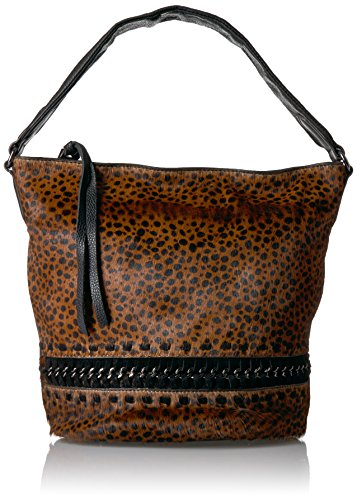 Hair Brown Cheetah Calf Hobo Genny Aimee Bucket Kestenberg YwHUTqg