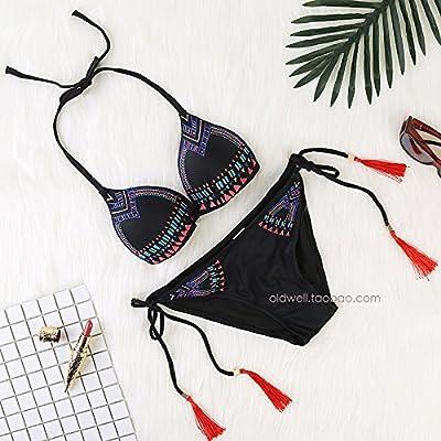 XIAOHUAHUA Bikini À Trois Points Bikini Beach Plage Vacances Sans L'Anneau En Acier Maillot Coupe