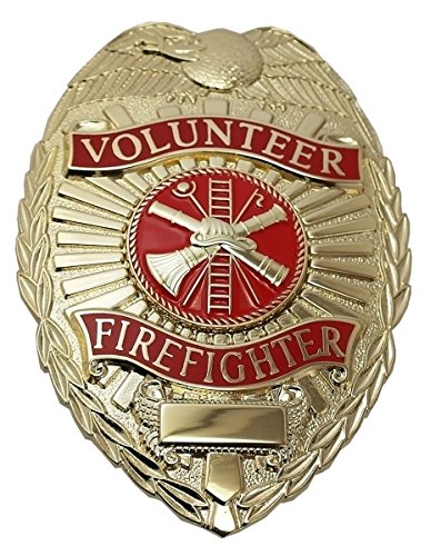 Volunteer Firefighter - Oval W/phoenix (GOLD) (Firefighter Badges)