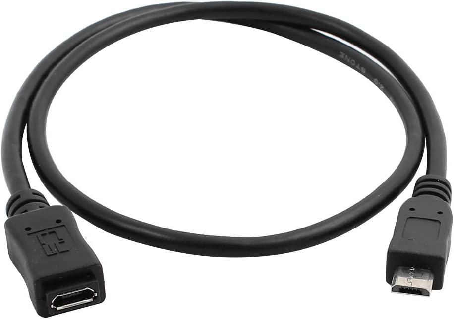 Aexit Elbow 90 Computer Degree 5Pin USB 2.0 Male to Micro USB Female Extension Cable for Mobile Phone USB Cables Flat 50CM
