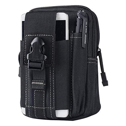 GOOD TAKE Men Tactical Molle Pouch Belt Waist Pack Bag Small Pocket Military Waist Pack Running Pouch Travel Camping Bags Soft Back,Sports Fitness, Running,Waist Packs Bags (Best Waist Bag For Camping Running)