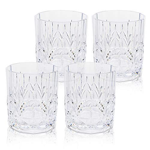 BELLAFORTE – Shatterproof Tritan Short Tumbler Clear, 13oz, set of 4 Myrtle Beach Drinking Glasses – Dishwasher Safe…
