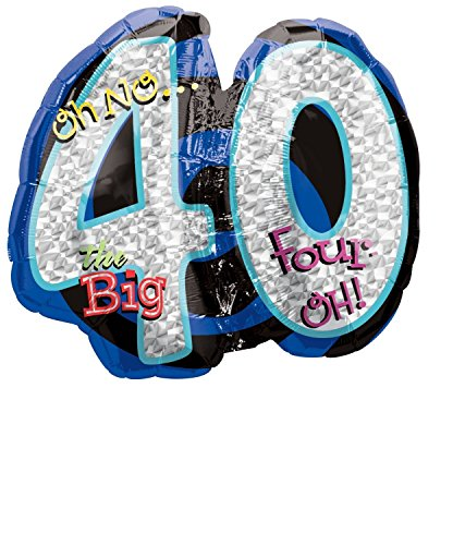 Oh No! 40Th Birthday Shaped Balloon by Anagram