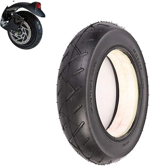 2 pi/èces,Noir Creux Antid/éflagrant Absorption des Chocs sans Entretien Pneus Solides SUIBIAN Pneus Scooter /électrique 10X2.125 antid/érapante r/ésistant /à lusure des pneus
