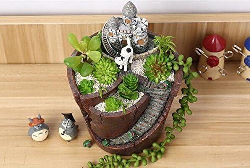 Youfui Garden Pastoral Flowerpot Combination Resin Succulent Plant Pot Castle
