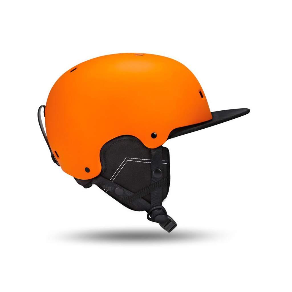 ヘルメット スキー&スノーボードヘルメット、スキー用保護安全帽男性女性スケートボードスケートヘルメット調節可能なヘッドバンド B07PWCFSLG Orange XL XL|Orange