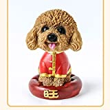 Glumes Car Ornaments Childhood Memory Bobblehead Dogs Mascot Rocking Head While Disturbance, Fun Birthday Gift For Kids Home And Auto Decoration Office Desk Dashboard Decor