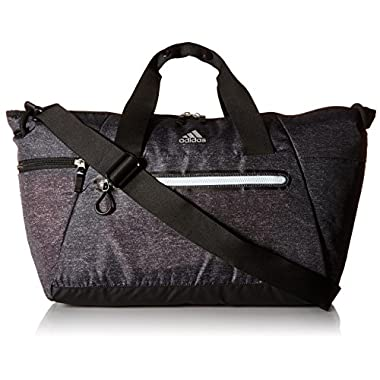 adidas Studio Duffel Bag, One Size, Heather Print Deepest Space/Ice Blue/Grey