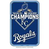 "MLB Kansas City Royals Wood Sign 2015 World Series Champion, 11""x17"", Team Color"