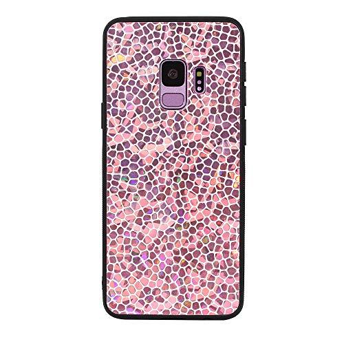(LittleBlack Samsung Galaxy S9 Case, Samsung Galaxy S9 Glitter Case, Gradient Honeycomb Shape Series Magic case,Bling Liquid Girls Women Case for Samsung Galaxy S9(Pink))