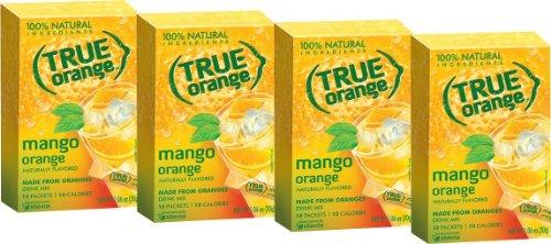 Orange Beverage - True Orange, Mango Orange Drink Mix, 10-count (Pack of 4)