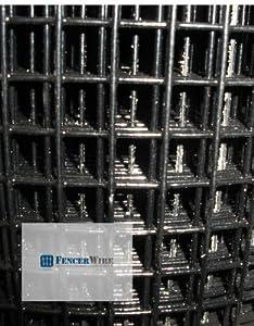 Welded Wire 16 Gauge Vinyl Coated Black 48\