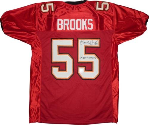 (Derrick Brooks Autographed Tampa Bay Buccaneers (Red #55) Jersey w/