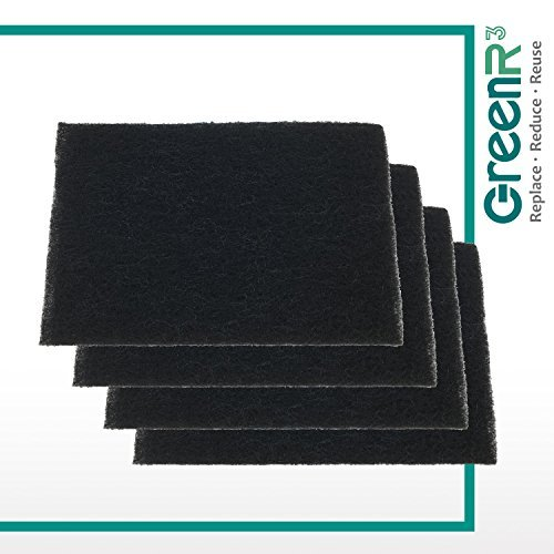 GreenR3 4-PACK Filters Air Purifiers Active Carbon Replacement Parts for Holmes HAPF60 fits Bionaire BAP615 GE 106633 BAP650 BAP1175 Filter B HAPF600D-U2 BAP1150 HAP8756 HAP675RC Model Series and more