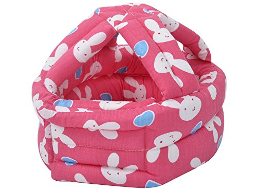 Baby Infant Toddler Children No Bumps Safety Helmet Head Cushion, Red Rabbit