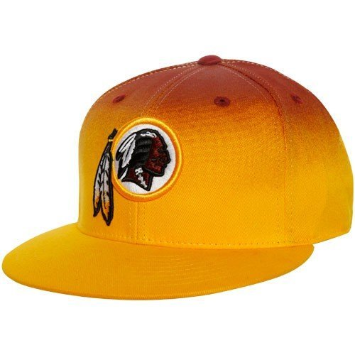 (Reebok Washington Redskins Gold-Burgundy Gradiated Fitted Hat (7 3/4))