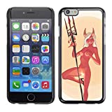 SKCASE Center / Slim Snap On Hard Case Cover - Devil Angel Woman Horns Nude Fire Sexy - iPhone 6