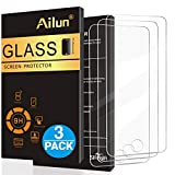 Ailun Screen Protector Compatible with iPod Touch 6 Touch 5,[3Pack],Curved Edge Tempered Glass Compatible with iPod Touch 6G/5G(6th/5th Generation),Anti-Scratch,Case Friendly,Siania Retail Package