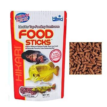 Hikari Food Sticks-Flotador pienso completo para todas las especies y otros pescados Arowana de carnívoros de superficie alimentados con alimentos en vivo: ...