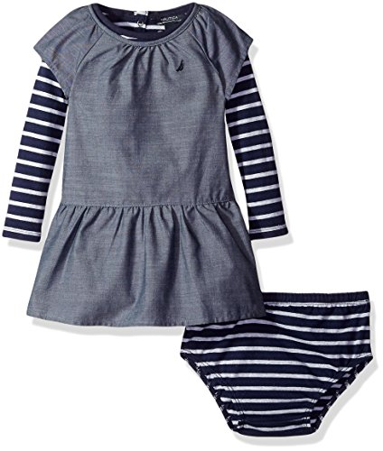 Nautica Chambray Dress Stripe Top