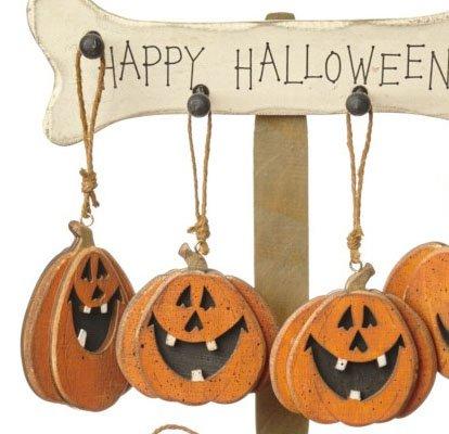 Heaven Sends Set of 3 Hanging Pumpkin Decorations