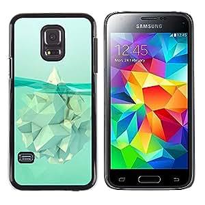 "For Samsung Galaxy S5 Mini ( NOT for regular S5 ) Case , Iceberg Calentamiento Significado Polígono"" - Diseño Patrón Teléfono Caso Cubierta Case Bumper Duro Protección Case Cover Funda"