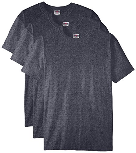 Jerzees Men's Adult Short Sleeve Tee 3 Pack, Black Heather, X-Large from Jerzees